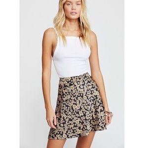 NWT Free People Phoebe Floral Skirt